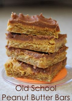 If I never had another dessert in my whole life (besides these) I would be a happy girl. PEANUT BUTTER BARS for life!