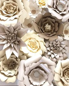 Paper Flower Backdrop by AbbieLuHandmade on Etsy