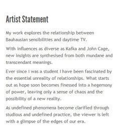 Writing an artist mission statement