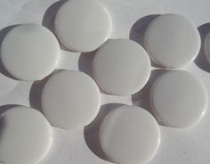 10% off 22mm 10CT Round Flat Acrylic Beads White by SofiasCottage