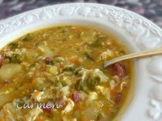 Spanish Kitchen, Cheeseburger Chowder, Soup, Healthy, Ethnic Recipes, Curry, Gastronomia, Soups And Stews, Onion