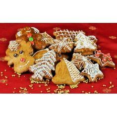 A mézeskalács máz titka a megfelelő mennyiségű porcukor!Én ezzel a cukormázzal szoktam díszíteni a mézeskalácsokat.Mézeskalács máz hozzávalói:1 tojás fehérje15 dkg porcukornéhány csepp citromléA Gingerbread Cookies, Sugar, Desserts, Food, Ginger Cookies, Postres, Deserts, Hoods, Meals