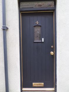 Door in Kelso Scottish Borders & baby blue door