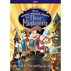 Disney Mickey, Donald, Goofy: The Three Musketeers DVD 10th Anniversary Edition | Disney StoreMickey, Donald, Goofy: The Three Musketeers DVD 10th Anniversary Edition - Celebrate the 10th anniversary of Disney's swashbuckling adventure <i>Mickey, Donald, Goofy: The Three Musketeers!</i> Join Mickey and all your favorite Disney characters in this outrageously funny take on the timeless tale.