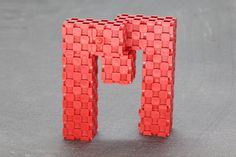 letter M with Lini cubes (11 blocks) http://www.lini.toys  #linicube #lini #toy #education #ABC #alphabet #letter