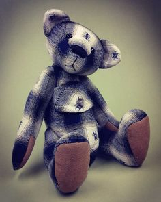 94a018525 Making a Button Jointed Memory Bear Pattern and Instructions Download -  Pauly Bear - 29cm/11.4