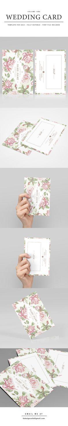 (FOR SALE) Wedding Invitation Template - Volume 1 by Faridz Design Suite, via Behance