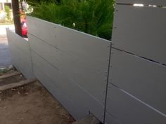 Cement Board Fencing | uprooted daily Fence Design, Patio Design, Fences Alternative, Garden Retaining Wall, Retaining Walls, Backyard Privacy, House Yard, House Siding, Modern Fence
