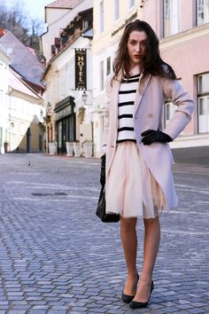 Fashion blogger Veronika Lipar of Brunette From Wall Street on how to wear a tutu skirt on the street