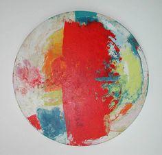 De Zon III  Kunstenaar: Jef Diederen  datering onbekend  acryl/alkyd/olie op paneel  126 x 126 cm