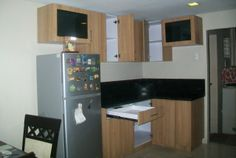 Small Kitchen Cabinets - (Interior) using 18 mm White Melamine Boards.