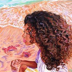 Afro natural hair ar