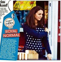 Photo in German newspaper shows Kate out and about in Bucklebury. January 2015