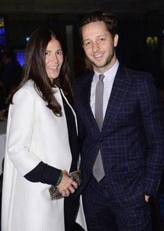 Elizabeth Saltzman and Derek Blasberg at the grand final of the 2013 #DCFashionPrize at The Dorchester, London