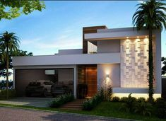 Awesome Decoracao Exterior De Casas Modernas that you must know, Youre in good company if you?re looking for Decoracao Exterior De Casas Modernas Single Floor House Design, House Front Design, Modern House Design, Contemporary Design, Facade Design, Exterior Design, Architecture Design, Modern House Facades, Bungalow House Design