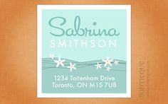 Sea Flower Return Address Labels on Etsy, $6.25
