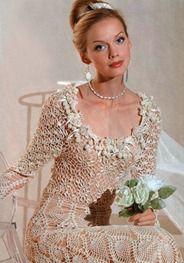 crochet wedding dress  (could also be a stunning evening gown)