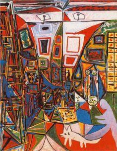 Las Meninas (Velazquez) - Pablo Picasso. 1957. Cubism. Oil on canvas, 162 x 130 cm. @ Museu Picasso, Barcelona, Spain.