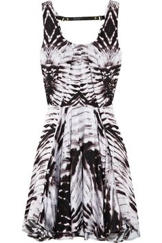 Felder Felder: Geometric Printed Silk Dress