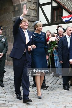 April 14, 2016 in Nuremberg, Germany. King Willem-Alexander and Queen Maxima are on a two-day visit in Bavaria to strengthen the relationship between Bavaria and the Netherlands. Day 2
