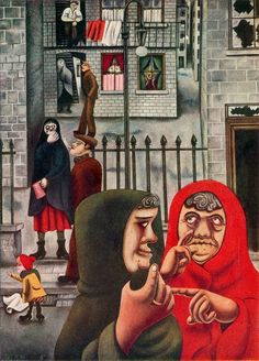 The Gorbals, Glasgow, painting by Edward Burra, c. 1930