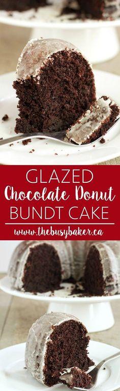 Glazed Chocolate Donut Bundt Cake www.thebusybaker.ca: http://www.thebusybaker.ca2016/10/glazed-chocolate-donut-bundt-cake.html
