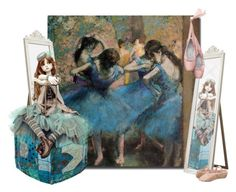 """Blue Dancers"" by elsiemarley22 ❤ liked on Polyvore featuring art"