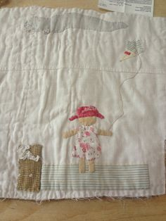Stitching into the back of an old cutter quilt at a weekend with Janet Bolton -- mandy james Baby Girl Quilts, Girls Quilts, Hand Applique, Applique Quilts, Janet Bolton, Quilt Stitching, Quilting, Fibre And Fabric, Fabric Pictures