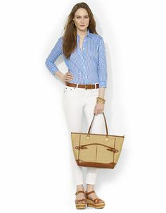 Women's Clothing | Blouses & Button Downs | Striped Cotton Blouse | Lord and Taylor #49