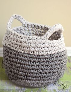 Crochet Basket. Inspiration only: