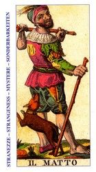 The Fool - Ancient Italian Tarot. This card symbolizes one of the stages of the Fool's Journey towards self-discovery. The Fool stands for all of us. Divination Cards, Tarot Cards, Clowns, Ink Illustrations, Illustration Art, Tarot The Fool, Tarot Prediction, Tarot Astrology, Online Tarot
