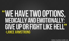 Lance armstrong. Fight like Hello