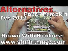 Alternatives - February 2019 Paper Pumpkin - Grown With Kindness Pumpkin Ideas, Creative Skills, Paper Pumpkin, Text Me, Thank You Gifts, Fun Projects, Pumpkins, Stampin Up, How To Become