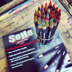 SOHO Professional Colored Pencils  24 color set only $19.99