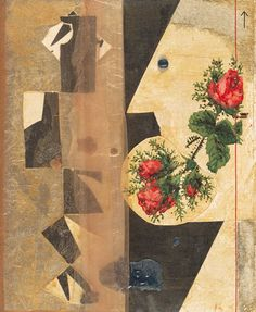 Kurt Schwitters Seidenstrumpf (Silk Stocking) 1943 Modern Art, Kurt Schwitters, Fine Art, Painting, Visual Art, Artwork, Collage Art, Abstract, Photo Paper