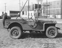 Bantam BRC 40 Light Reconnaissance Vehicle built by Checker Cab Company under contract, 11 Jun 1941 Jeep Willys, Jeep Dodge, Army Vehicles, Armored Vehicles, De Havilland Mosquito, Jeep Brand, Military Jeep, Ww2 Photos, Military Pictures
