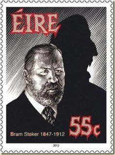 "Postage Stamp - Bram Stoker who wrote famous horror novel "" Dracula"""