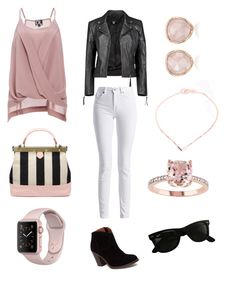 """""""Rose Gold"""" by tylir-penton on Polyvore featuring DailyLook, Boohoo, Barbour International, Lucky Brand, Tammy & Benjamin, Ray-Ban, Monica Vinader and Jukserei"""