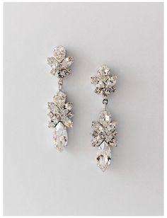 Prom Earrings, Bride Earrings, Wedding Earrings Drop, Silver Drop Earrings, Crystal Earrings, Silver Jewelry, Fine Jewelry, Geode Jewelry, Jewelry Sets