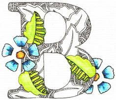 Creative Doodling with Judy West: Detailed Alphabet Distructions