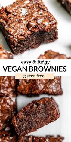 Vegan Baking Recipes, Vegan Dessert Recipes, Dairy Free Recipes, Healthy Baking, Delicious Desserts, Vegan Gluten Free Brownies, Vegan Gluten Free Desserts, Vegan Treats, Vegan Foods