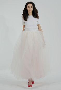 Cropped Sweater and Tulle Skirt Wedding Dress | Houghton Wedding Dresses Fall/Winter 2015 | Kurt Wilberding | blog.theknot.com