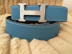 """AUTHENTIC RARE 32 MM BOX CONSTANCE REVERSIBLE HERMES BELT KIT """"TOGO GUILLOCHE"""" SILVER H. BLACK/TEAL 105 CM. Get the lowest price on AUTHENTIC RARE 32 MM BOX CONSTANCE REVERSIBLE HERMES BELT KIT """"TOGO GUILLOCHE"""" SILVER H. BLACK/TEAL 105 CM and other fabulous designer clothing and accessories! Shop Tradesy now"""