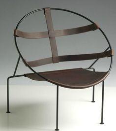 Leather chair FDC1 by Objekto | Design Flavio De Carvalho