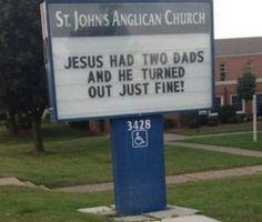 """Blah blah blah just go to church."""