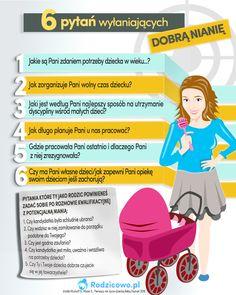 Jak wybrać najlepszą nianię dla dziecka? Jakie pytania zadać na rozmowie rekrutacyjnej? Vogue Kids, Infant Activities, Doula, Baby Hacks, Montessori, Pregnancy, Parenting, Education, Lettering