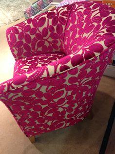 Bespoke British classic tub chair in cut velvet fabric from Designers Guild Bespoke Sofas, Cushion Filling, Designers Guild, Tub Chair, Pretty In Pink, Cribs, British, Cushions, Velvet