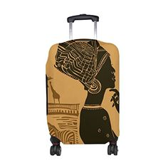 Travel Luggage Cover Green Rose Elephant Head Pattern Suitcase Protector