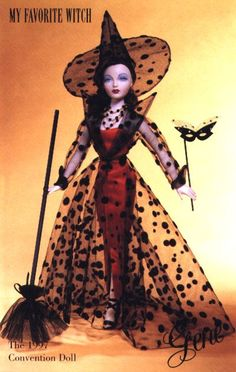 Gene My Favorite Witch Dressed Convention Doll 1997 by Tim Kennedy Limited to 350 Circa 1952 Barbie Halloween, Halloween Inspo, Halloween Fashion, Vintage Halloween, Ballerinas, Halloween Miniatures, Valley Of The Dolls, Beautiful Barbie Dolls, Barbie Fashionista