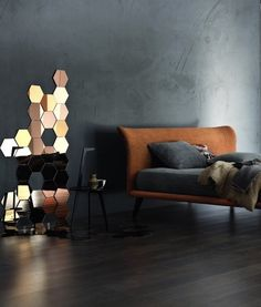 Design Trend: Mirrored Tiles by AphroChic - A few IKEA Honefoss mirrors are pieced together to create an elegant mosaic.